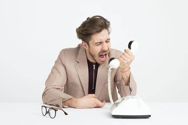 Mauvais payeur qui ne répond pas au téléphone