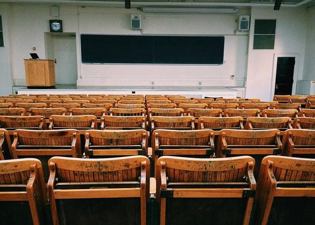 Banc d'une faculté ou d'une université