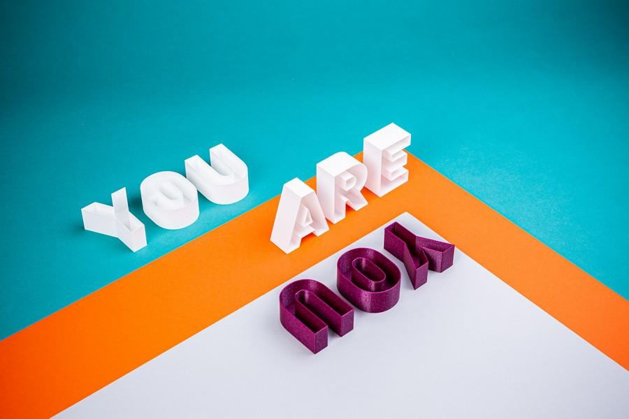 lettre avec l'inscription you are you